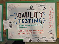 Wikimania 2019 Hackathon poster - Usability testing.jpg