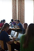 Wikimedia Hackathon Vienna 2017-05-19 Hacking Gurkerl 002.jpg