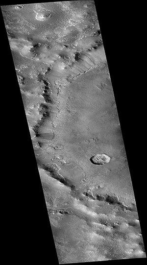 Milankovič (Martian crater) - Image: Wikimilankovic