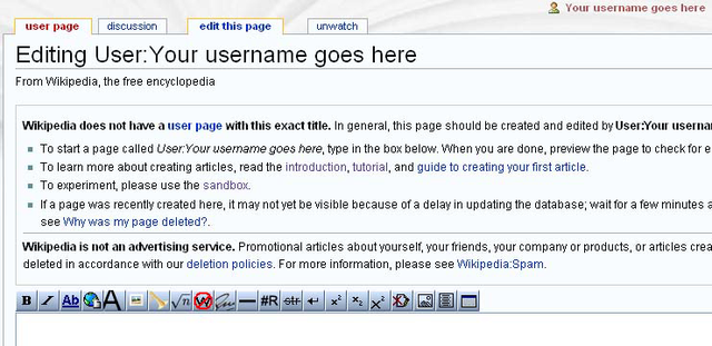Helpwikipedia the missing manualediting creating and figure 3 7 editing your user page the first timethe top of the page including the top of the edit box where youll be putting some text solutioingenieria Images