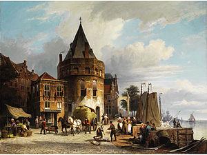 Schreierstoren - Scheierstoren in the 19th century, by Willem Koekkoek