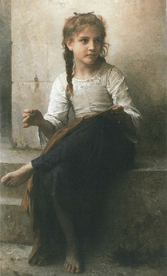 William-Adolphe Bouguereau - Sewing (1898)