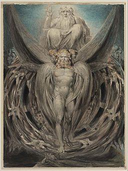 William Blake Ezekiel's Vision ca 1803-5 Boston Museum