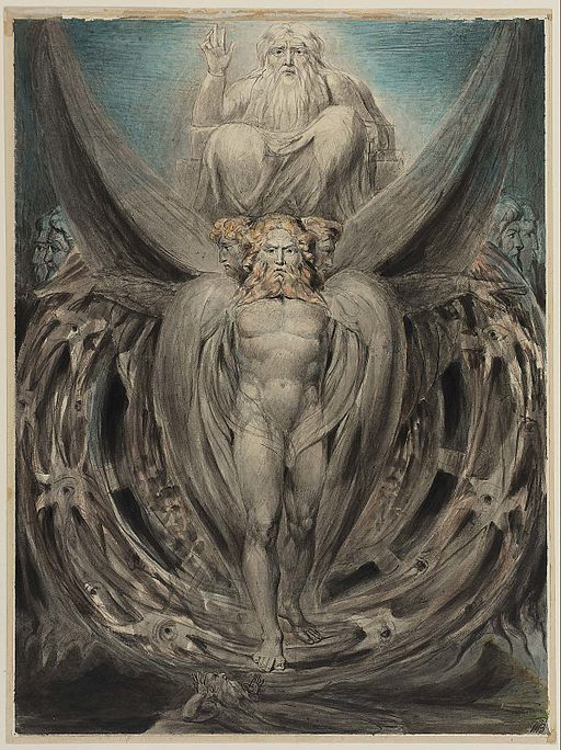William Blake Ezekiel's Vision ca 1803-5 Boston Museum