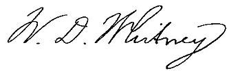 William Dwight Whitney - Image: William Dwight Whitney signature