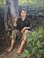 William Gilbert Gaul- 'His First Smoke', 1878, High Museum.JPG