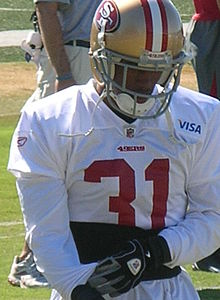 William James at 49ers training camp 2010-08-11.JPG
