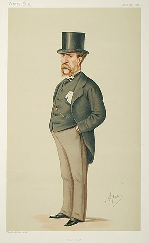 "William Patrick Adam - ""The Past"" Adam as caricatured by Ape (Carlo Pellegrini) in Vanity Fair, June 1874"
