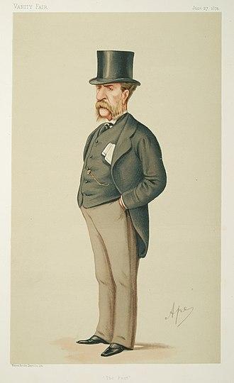 """William Patrick Adam - """"The Past"""" Adam as caricatured by Ape (Carlo Pellegrini) in Vanity Fair, June 1874"""