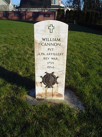 St. Paul, Oregon - Tombstone of William Cannon