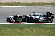 Maldonado durante le prove del Gran Premio di Spagna 2011