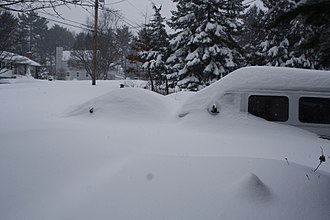 Early February 2013 North American blizzard - The snowfall in Billerica, Massachusetts