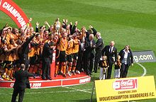1062d3615ea Football League Championship trophy presentation at Molineux on 3 May 2009