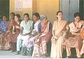 Women voters Chatting in a relaxed mood while lining up to cast their vote, outside a polling Station of Mangalore Parliamentary Constituency of Karnataka during General Elections 2004 on April 26, 2004.jpg