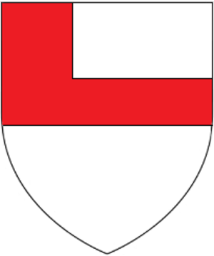 Anthony Woodville, 2nd Earl Rivers - Arms of Woodville: Argent, a fesse and a canton conjoined gules