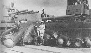 British 24.5 inch torpedo - Wrecked 24.5 inch Mark I torpedoes after HMS Nelson was torpedoed in 1941