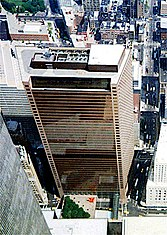 The original 7World Trade Center from the WTC observation deck, August 14, 1992