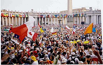 Catholic youth work - 2.1 million people turned up to World Youth Day 2000 in Rome