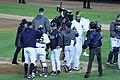 Yankees celebrate ALDS Game 5 victory 10-12-12 (11).jpeg