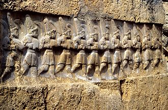Religion - The Yazılıkaya sanctuary in Turkey, with the twelve gods of the underworld