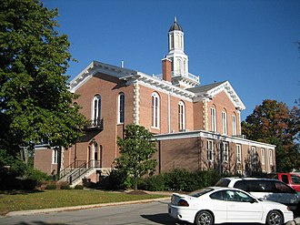 National Register of Historic Places listings in Kendall County, Illinois - Image: Yorkville IL Kendall County Courthouse 4