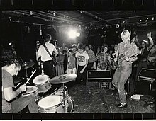 Aimee Mann playing with her band the Young Snakes at The Rat, 1981