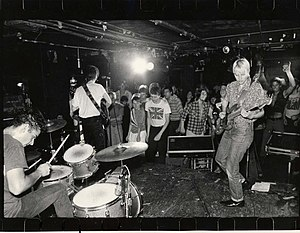 The Rathskeller - Aimee Mann playing with her band the Young Snakes at the Rathskeller in 1981. —photo by David Henry.