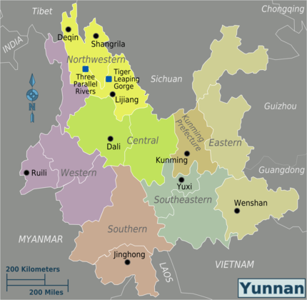Regions of Yunnan