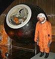 Yuri Gagarin Capsule and space suit (cropped).jpg