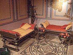 Antique Dining Room Chair Velvet Upholstered Seat Cornucopia Engraved Design