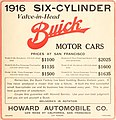 """""""1916 SIX-CYLINDER Valve-in-Head BUICK MOTOR CARS"""" """"PRICES AT SAN FRANCISCO"""" - Motoring Magazine and Motor Life July 1915 (page 1 crop).jpg"""
