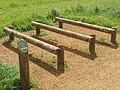 """Log hops"" in fitness circuit, Stockley Park - geograph.org.uk - 815478.jpg"