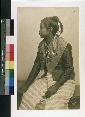 Indigenous peoples of the Philippines - A Moro woman (c. 1904).