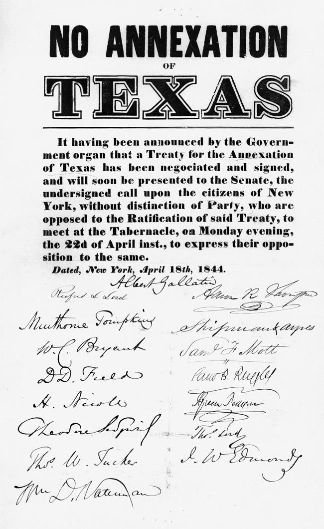 """""""No Annexation of Texas"""" 1844"""