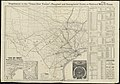 """""""Texas New Yorker's"""" railroad map of Texas - showing all completed and proposed routes, with principal rivers, county boundaries and county-seats, railroad stations and distances, congressional (11840224613).jpg"""