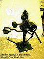 """Zander Type B-4 Adjustable Weight Foot Push Unit"" is a cast-iron column resting on a heavy iron base and attached to a (102febdf-6735-458a-af39-dd56b31b986c).JPG"