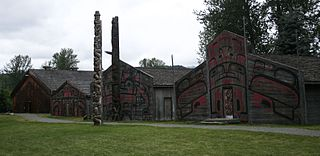 Ksan Historical village and living museum in 'Ksan is near Hazelton at the confluence of the Skeena and Bulkley Rivers.