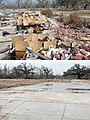(Hurricane Katrina) Pass Christian, Miss., September 19 and December 6, 2005 -- The debris from Pass Christian Middle School before (above) and after cleanup. The school was destroy - DPLA - e034eae62bfe7adf7b4e9822be3ec71f.jpg