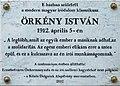 Örkény István plaque Bp07 Damjanich39.jpg