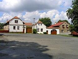 Červené Janovice, main square.jpg