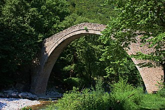 Pyli - The stone arch bridge at Portaikos, built in 1514.