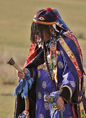 "Religion - Budazhap Shiretorov (Будажап Цыреторов), the head shaman of the religious community ""Altan Serge"" (Алтан Сэргэ) in Buryatia."