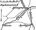 Карта к статье «Донауверт». Военная энциклопедия Сытина (Санкт-Петербург, 1911-1915).jpg