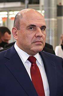 Prime Minister of Russia Head of the government, aka Chairman of the Government of the Russian Federation