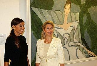Baku Museum of Modern Art - Mehriban Aliyeva and Svetlana Medvedeva visited the museum