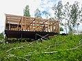 Строящийся дом в поселке УНИВЕРСИТЕТСКИЙ рядом с Академгородком Новосибирска 01.jpg