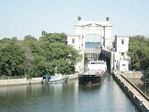 Volga–Don Canal -  Lock No. 14 on the Volga-Don Canal