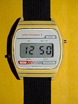 Наручные часы марки «Электроника-5» 27fd5dab70750