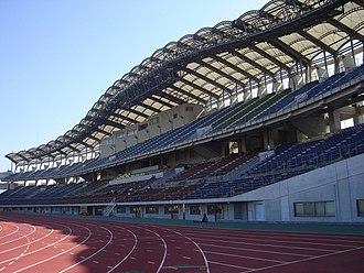 Kagawa Marugame Half Marathon - Marugame Stadium is the start and finishing point of the race