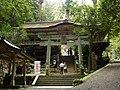 由岐神社(鞍馬寺鎮守社)鳥居と拝殿 Yuki-jinja 2011.8.28 - panoramio.jpg